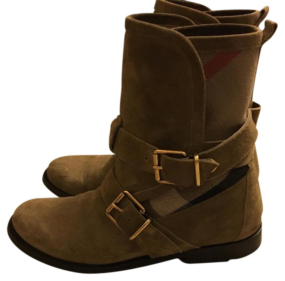 ladies Burberry Light Brown Quality Suede Boots/Booties Quality Brown and quantity guaranteed 71eb80