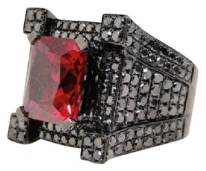 Other New Black Diamond Ring Band Semi Mount Pinky Castle Ring 7.05 Ct
