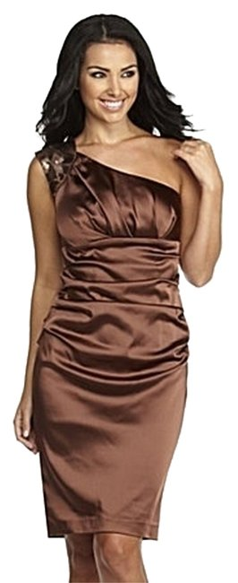 Preload https://item5.tradesy.com/images/suzi-chin-for-maggy-boutique-bronze-knee-length-formal-dress-size-6-s-2089024-0-0.jpg?width=400&height=650
