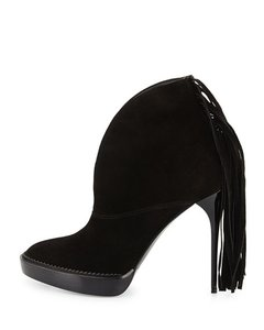 Burberry Prorsum Fringed Fringe Burberry Runway Black Boots