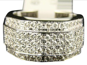 Other 14K Mens 5 Row Pinky Diamond Band Ring 1.79 Ct