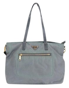 Prada Two-way 2way Nylon Tote in Blue