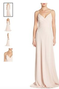 Monique Lhuillier Champagne Monique Lhuillier - Style No. 450360 In Champagne Chiffon Dress