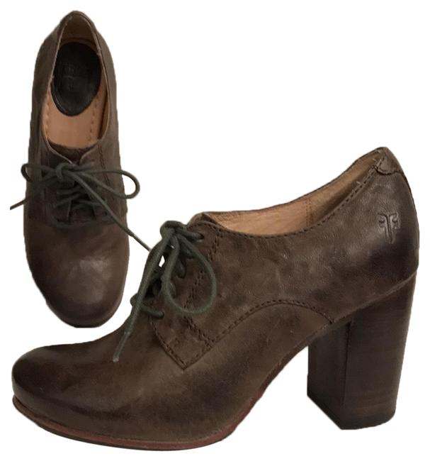 Item - Green Carson Oxford Distressed Oil Rubbed Leather Boots/Booties Size US 6 Regular (M, B)