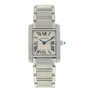 Cartier Cartier Tank Francaise W51008Q3 Quartz Stainless Steel White Ladies