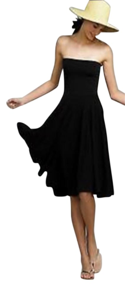 0873303304634 J.Crew Black Or Navy Convertible Mid-length Casual Maxi Dress Size 2 ...