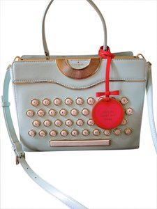 Kate Spade Typewriter Be Mine Collectible Satchel in blue