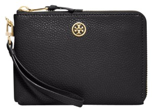 Tory Burch Iphone Leather Wallet Night Out Wristlet in Black