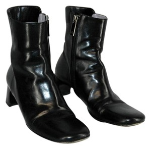 Gucci Ankle Leather Black Boots