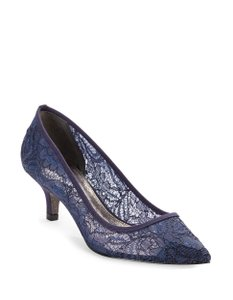 Adrianna Papell Lace Pump Navy Formal