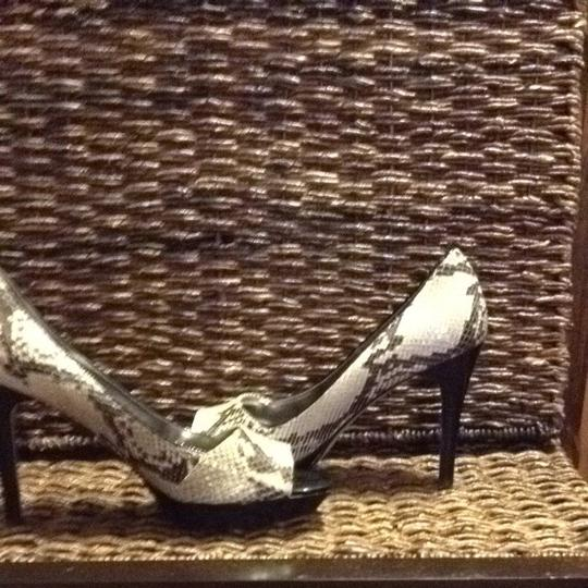 Guess By Marciano Natural Multi Leather Snakeskin Platforms