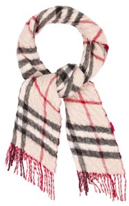 Burberry Beige, pink multicolor Burberry Nova Check print quilted scarf