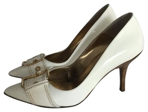 Lario White Pumps