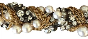 J.Crew NEW BRAIDED BRACELET WITH PEARLS AND BLING