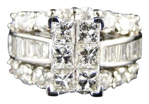Other 14K White Gold Diamond Engagement Bridal Anniversary Ring 4.0 Ct
