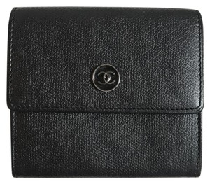 Chanel Leather Calfskin leather trifold