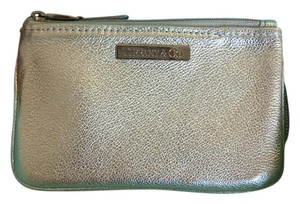 Tiffany & Co. Hard To Find Tiffany Grain Small Flat Pouch Platinum