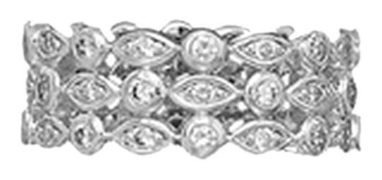Preload https://item4.tradesy.com/images/silver-sterling-rhodium-plated-triple-band-cz-ring-2089123-0-0.jpg?width=440&height=440