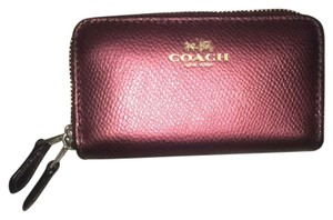 Coach coach double zip wallet