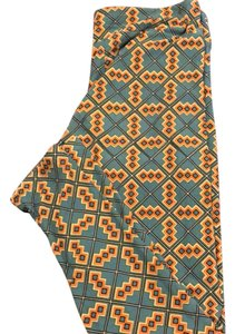 LuLaRoe blue and orange Leggings