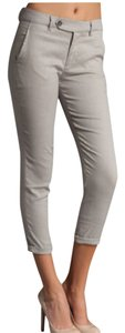 Vince Summer Linen Boyfriend Pants Gray