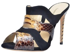 Alexandre Birman Brown Black Mules