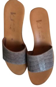 K. Jacques Taupe/gray with cork wedge Sandals