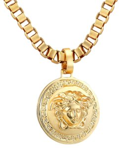 Other 14k Gold Plate Finish Medusa Link Necklace Stainless Steel Custom Made