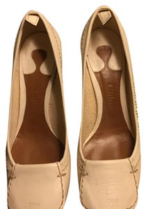 Chloé White and Brown Pumps