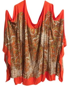 Lane Bryant orange peel a boo sleeve blouse Top orange