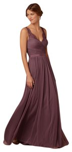 BHLDN Antique Orchid Tulle and Polyester Lining Fleur Feminine Bridesmaid/Mob Dress Size 0 (XS)