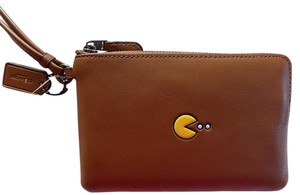 Coach LIMITED EDITION! Coach Pac-Man Soft Calf Leather Corner Zip Wristlet