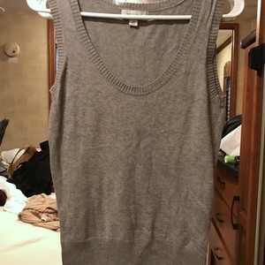 Merona Vest Work Casual Top grey