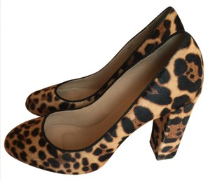 J.Crew Cheetah Print Pony Hair Pumps