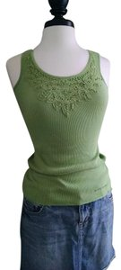 DKNY Lace Trim Sale Dnky Millies Closet Top Green