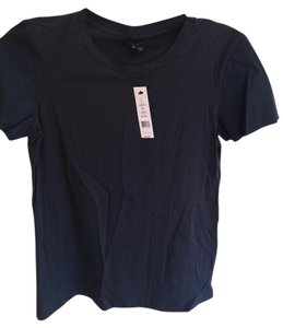 Theory Mixed-media Faux Leather T Shirt blue