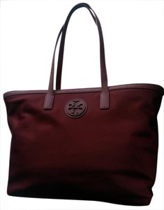 Tory Burch Large Nylon Tote in Deep Berry