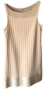 Diane von Furstenberg short dress nude on Tradesy
