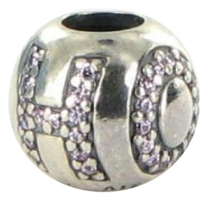 PANDORA 791418PCZ Bead Charm Surrounded by Hope Pink Cubic Zirconia Sterling