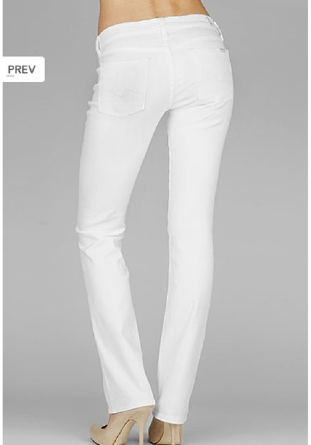 7 For All Mankind Jeans Leg Spring Classic Straight Pants White