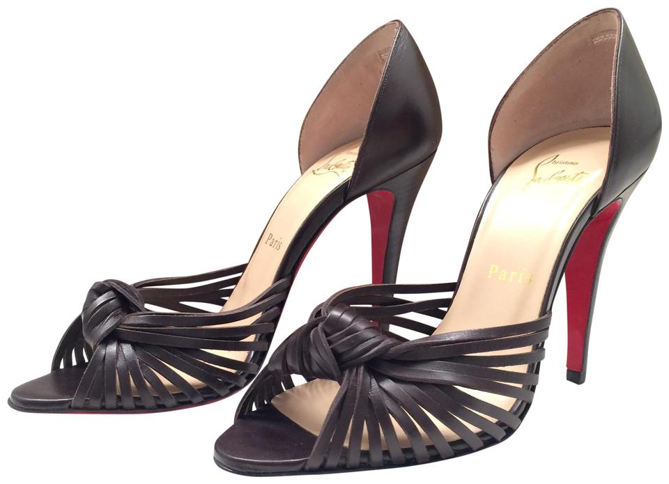 uk availability 5ac66 6bdb2 Christian Louboutin Dark Brown Miranda Dorcet Pumps Size EU 37 (Approx. US  7) Regular (M, B) 40% off retail