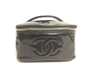 Chanel Reduced Chanel Patent Leather makeup bag
