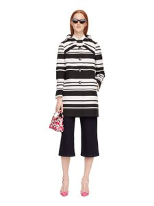 Kate Spade Striped Bow Lady Spring Preppy Black white Jacket