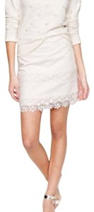 J.Crew Lace Eyelet Mini Skirt white