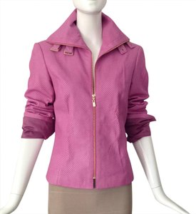 Dana Buchman pink Leather Jacket