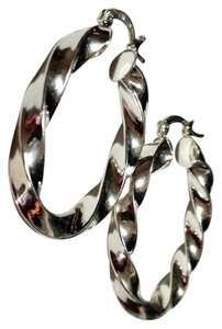 Other New Sterling Silver Large Chunky Hoop Earrings J3179