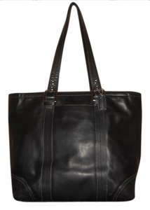 Coach Leather Briefcase Lap Top Tote in Black