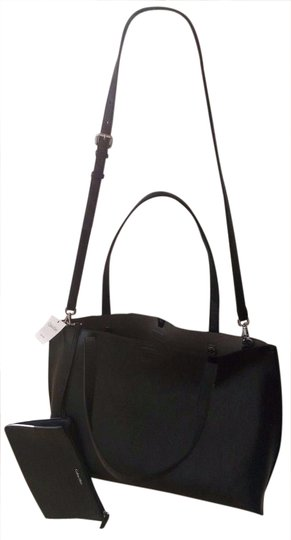 Calvin Klein Cross Body Large Carry Tote in Black