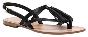 Kate Spade Black Tumbled Leather Sandals