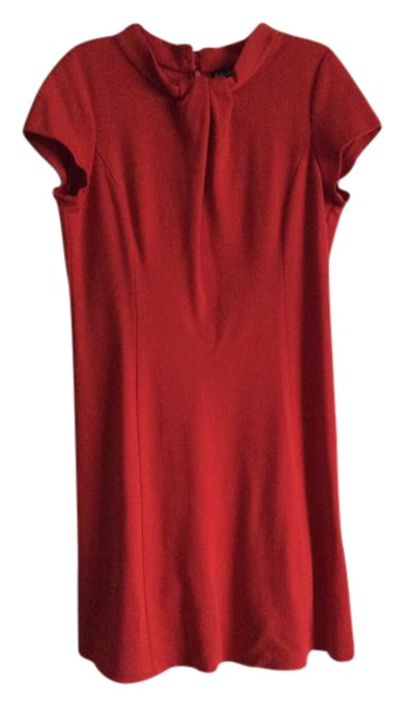 Item - Red Looks Like New Mid-length Cocktail Dress Size 14 (L)